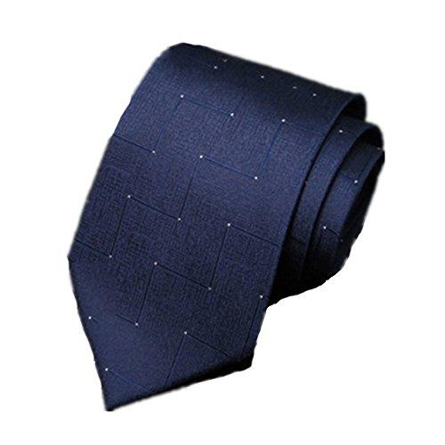 ZSRHH-Neckchiefs Halstücher Krawatte männlich formelle Kleidung Business Krawatte Bräutigam Hochzeit Ehe Krawatte Seidenstoffe Blaue Linie Muster Krawatte - Männliche Formel