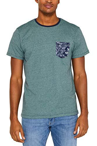 ESPRIT Herren 049Ee2K004 T-Shirt, Blau (Navy 400), Medium (Herstellergröße: M) -
