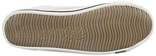 Mustang 1099-304, Sneakers basses femme Blanc - Weiß (17 weiß / grün)