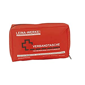Leina Werke GmbH REF30020 KFZ-Verbandtasche ÖNORM V5101, Rot