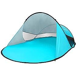 MOVTOTOP Strandmuschel Pop Up Extra Leicht Automatik Wurfzelt mit UV Schutz Familien Portable Beach Zelt für 2-3 Personen