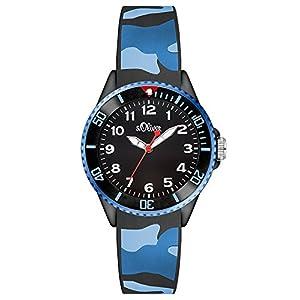 S.Oliver Jungen Analog Quarz Armbanduhr SO-3109-PQ