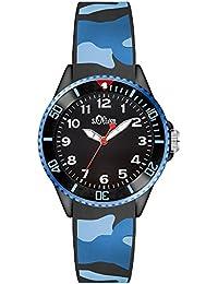 s.Oliver Unisex-Armbanduhr Analog Quarz Silikon SO-3109-PQ