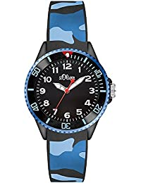 s.Oliver Jungen-Armbanduhr Analog Quarz Silikon SO-3109-PQ