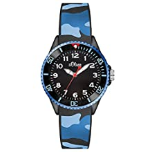S.Oliver Boys' Analogue Quartz Watch with Silicone Strap – SO-3109-PQ