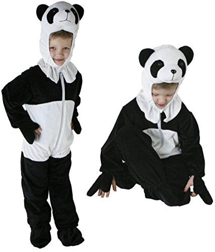 Gr. 98-128 Panda Bär Kinder Kostüm Jungen Mädchen Kinderkostüm Karneval MT 2988 (Panda-kostüme Mädchen Für)