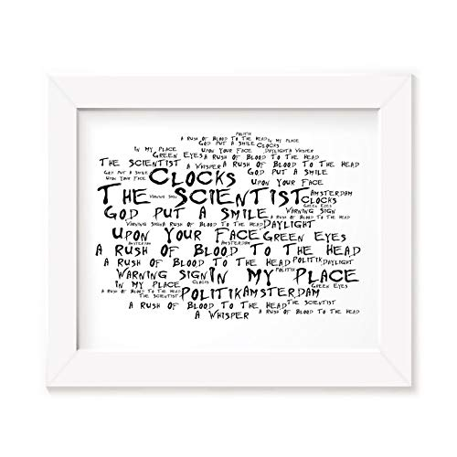 20 Wand-kunst (`Noir Paranoiac` Kunstdruck - COLDPLAY - A Rush of Blood to the Head - Unterzeichnet und Nummerierten Limitierte Auflage Typografie Ungerahmt 25 x 20 cm Wand Kunst Druck Text Lyrisch Plakat - Song Lyrics Art Print Poster)
