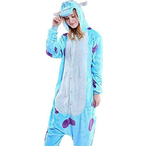 Mena Uk Cartoon Unisex Fleece Siamese Cosplay Pyjamas Kapuzen Kostüm Kapuzenpullis / Pyjamas ( Farbe : Sullivan , größe : XL(175cm-185cm) )