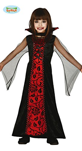 Kostüm Halloween Mädchen - Guirca Vampir Kostüm Halloween Kostüm für Kinder Halloweenkostüm Gr. 98-146, Größe:140/146