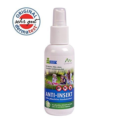 Gardigo Anti-Insekt Spray 100% pflanzliche Insektenabwehr 130 ml Dermatest