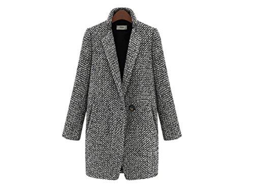 Swallowuk donna moda cappotto giacca maniche lunghe casual jacket (s)