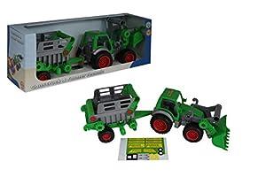 Polesie Polesie46505 - Tractor técnico con Carga Frontal y Juguete para Remolque