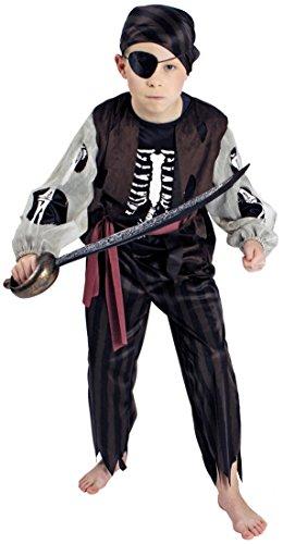 Körner Geister-Pirat / Halloween-Kostüm | Größe 116-128 | Kinder-Kostüm Zombie-Pirat (116-128)