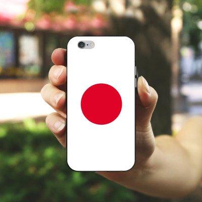 Apple iPhone X Silikon Hülle Case Schutzhülle Japan Flagge Fußball Silikon Case schwarz / weiß