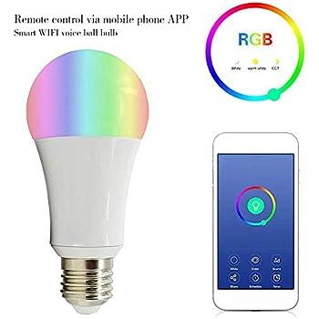 Bombilla Inteligente WiFi Iluminación Inteligente Mando a Distancia de Larga Distancia, Temporizador, Interruptor de Retardo, Pueden Conectar Amazon ALEXA, ...
