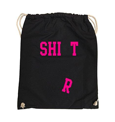Busta Comedy - Camicia - Sacchetto A Caduta - Borsa 37x46cm - Colore: Nero / Argento Nero / Rosa