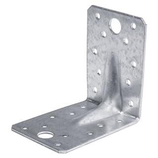Winkelverbinder Lochwinkel verzinkt 90 x 90 x 65 2,5 mm Winkel mit Rippe 50 Stk