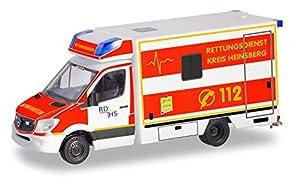 Herpa 094962 Mercedes-Benz Sprinter RTW Servicio de Rescate Kreis Heinsberg en Miniatura para coleccionar y como Regalo, Multicolor