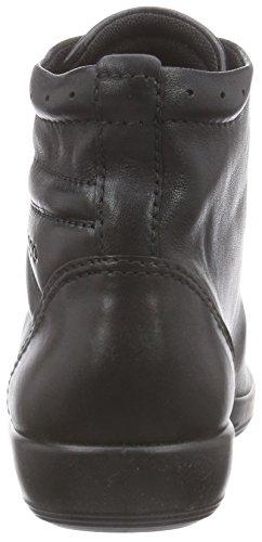 Ecco Ecco Soft 2.0, Baskets hautes femme Noir (BLACK WITH BLACK SOLE56723)