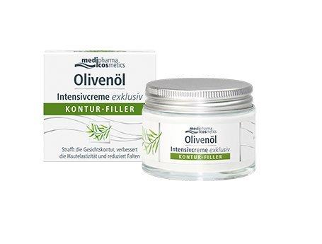 medipharma cosmetics Olivenöl Intensivcreme exklusiv Kontur-Filler Spar-Set 2x50ml. Strafft die...