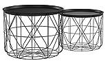 Atmosphera Lot de 2 Tables à café gigognes Plateaux Amovibles - Design Modernes -...