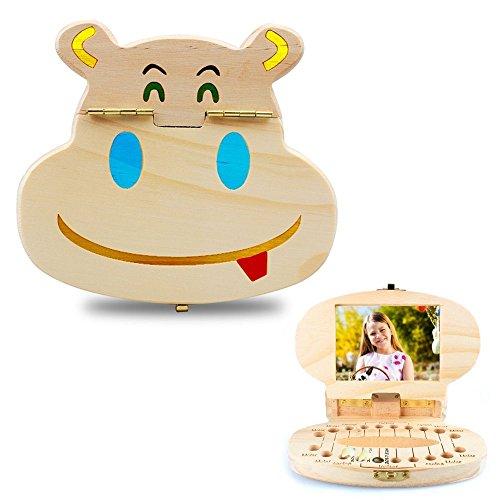 VICKY-HOHO DIY Coloring Kids Zahn Box Organizer Baby speichern Milchzähne Holz Aufbewahrungsbox