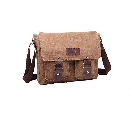 08988ec5f9 OrchidBest Canvas Traveling Satchel Multi-functional Durable Messenger Bag  Stylish Crossbody Shoulder Bag for Work