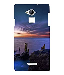 printtech Scenic Ocean Sunset Back Case Cover for COOLPAD NOTE 3 / COOLPAD NOTE 3 PLUS