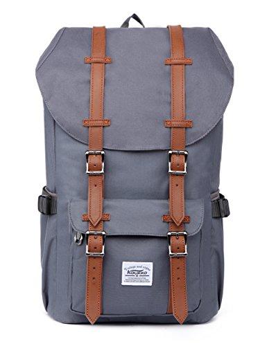 Imagen de  portátil unisex paquete de ocio de moda para excursiones al aire libre viajes camping por kaukko nylon gris)