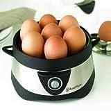 Russell Hobbs 14048-56 Eierkocher Cook@Home, 1-7 gekochte Eier, 3 gedämpfte Eier, 365 Watt, Edelstahl/schwarz Test