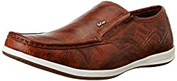 Lee Cooper Mens Tan Leather Loafers and Moccasins - 8 UK/India (42 EU)