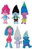 Komplettset 6 Plüschtiere 20cm Charaktere Trolle Trolls Film DreamWorks Ursprünglicher Poppy Guy Creek Branch Grandino Cooper