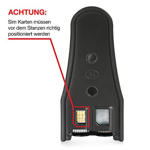 Wicked Chili Dual Sim Stanze und 4in1 Sim Karten Adapter Set (Nano, Micro, Standard, Eject Pin) für Handy, Smartphone und Tablet - 5