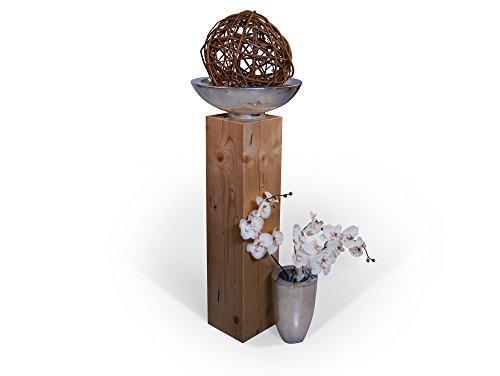 moebel-eins Blumensäule Fichte massiv Dekosäule Holzsäule Säule Landhaus Design (eichefarbig, 19 x 19 cm | 80 cm)