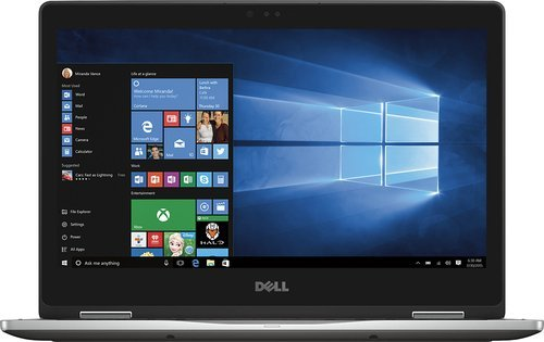 "DELL Flagship Inspiron 2-in-1 13.3"" Touch-Screen Laptop - Intel Core i5 -7200U - 8GB Memory - 256GB Solid State Drive - Gray"