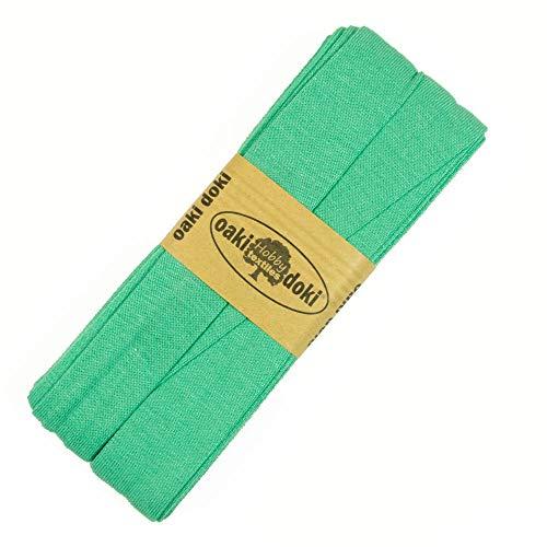 Stoffe Werning Oaki doki Uni Jersey Schrägband Einfassband 3 m Mint Öko-Tex Viskosejersey - Preis Gilt für 1 Stück á 3 Meter