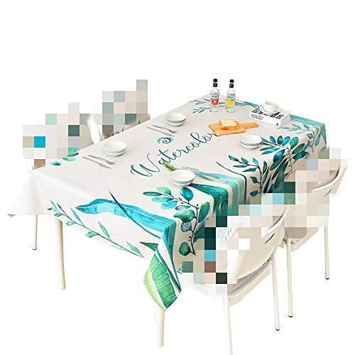 Zhuo Qun Shang Mao Pastorale kleine frische Baumwolle und grünes Blatt Tee Tisch rechteckige Tischdecke