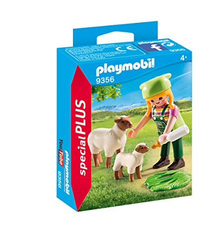Playmobil- Granjera con Ovejas Juguete