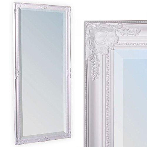 LEBENSwohnART Wandspiegel LEANDOS 180x70cm pur weiß barock Design Spiegel pompös Facette