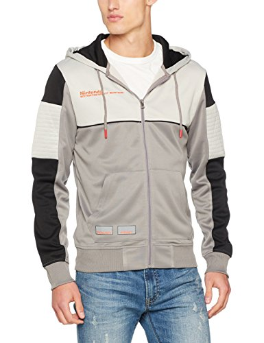 Meroncourt Nintendo NES Men's Full Length Zipper Hoodie, Small, Multi-
