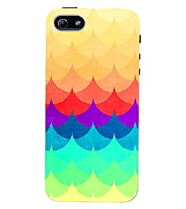PRINTVISA Abstract Colourful Pattern Case Cover for Apple iPhone 5S