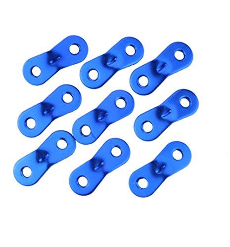 Katech 10 piezas hebillas de ajuste de la cuerda de tensor de cuerda de tienda de campaña duradero de aleación de aluminio al aire libre Camping Guy cuerda con dos agujeros diseño
