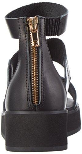 Shoe Closet Yvette, Sandali con Zeppa Donna Beige (110 Black)