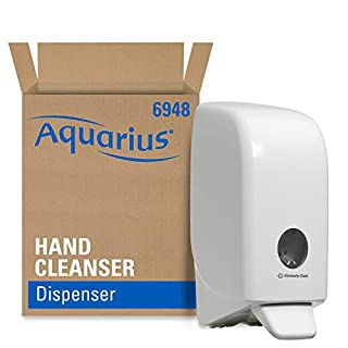 Aquarius 6948 Hand Cleanser Dispenser, 1 Litre, White, 1 x 1 Dispenser