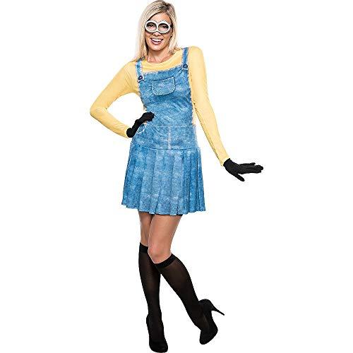 Rubies Damen Weiblich Minion Ich - Einfach Unverbesserlich NEU Damen Kostüm Kleid Outfit - S - 36-38 (Erwachsene Für Minion-brille)
