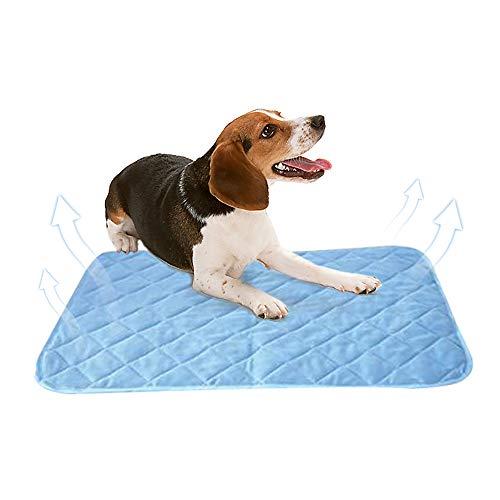 Urijk Hund Kühlmatte Tiere Kühlen Hundedecke Kühlkissen Sommer Selbstkühlende Decke Liegematte Hundematte Kühldecke für Fussboden Couch Betten Zwinger Auto