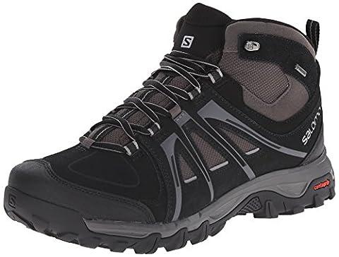 Salomon Evasion Mid GTX, Men's walking and hiking boots, Black (Black/Autobahn/Pewter), 9 UK (43 1/3 EU)