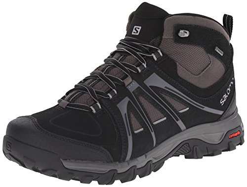 SalomonEvasion Mid GTX - Scarpe da trekking e da passeggiata Uomo, Nero (Schwarz (Black/Autobahn/Pewter)), 46.0