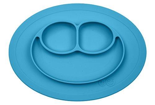 ezpz Mini Mat - One-piece silicone placemat + plate (Blue)