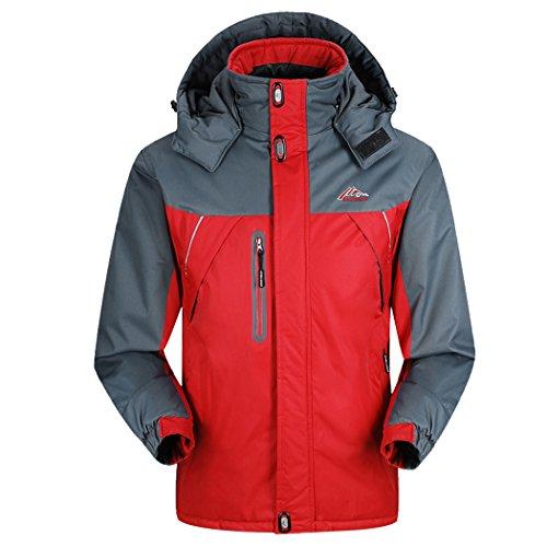 walk-leader-manteau-a-logo-col-rond-manches-longues-homme-rouge-xxxx-large